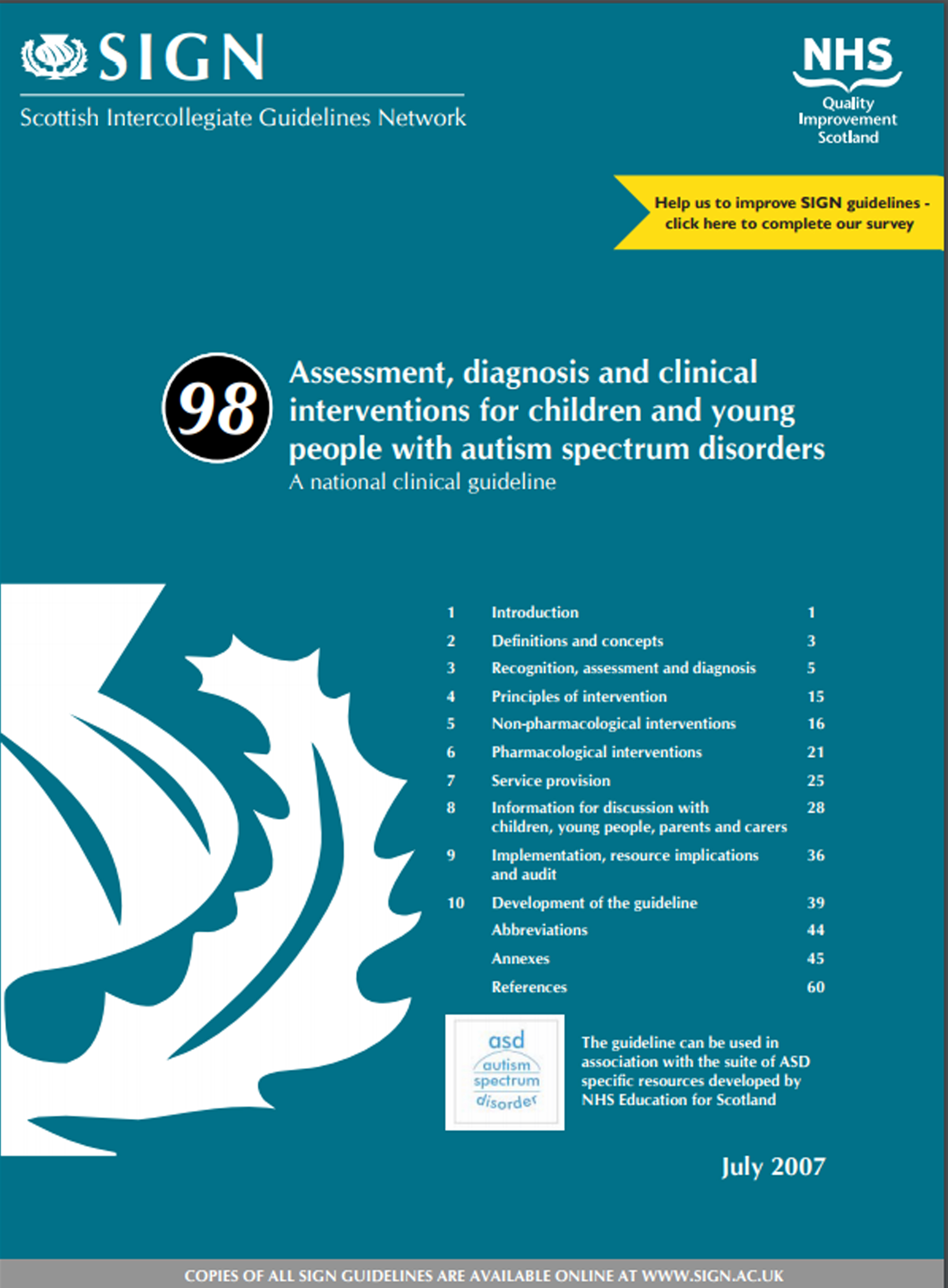 Assessment diagnosis and clinical interventions for autism