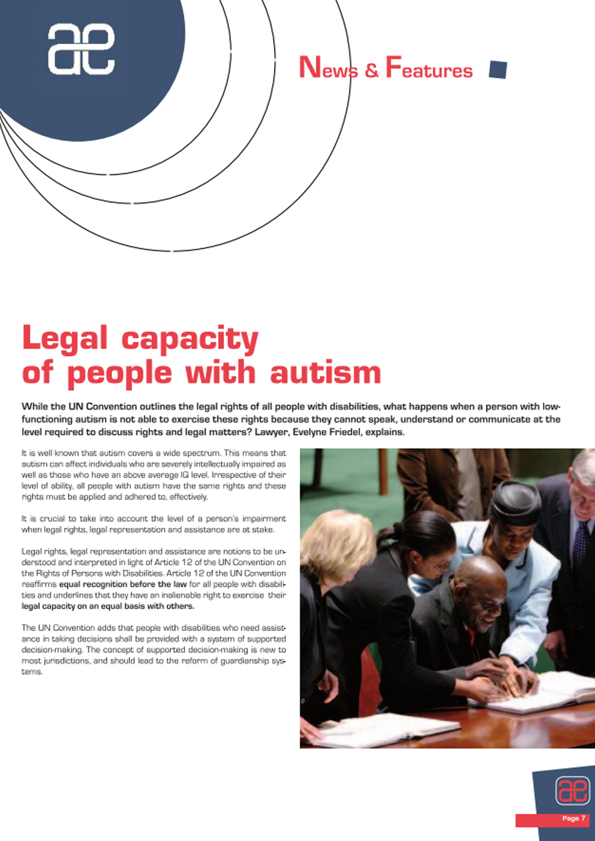 Areas of action – Autism Europe